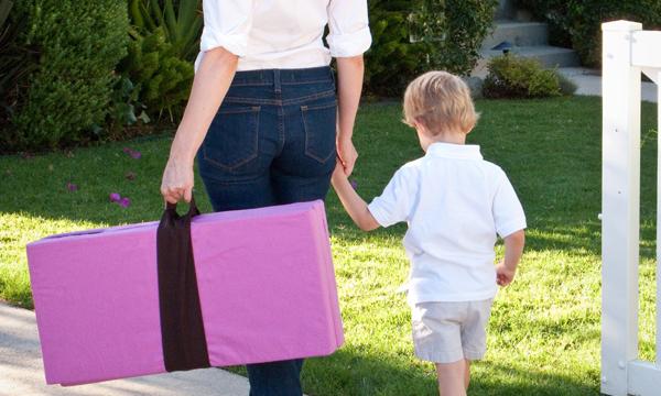 mom & son walking -PINK -600x300 slide show