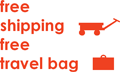 FREE Shipping, FREE Travel Bag