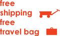 FREE Shipping, FREE Travel Bag